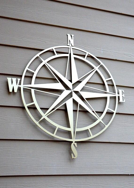 nautical compass rose metal wall art. Black Bedroom Furniture Sets. Home Design Ideas