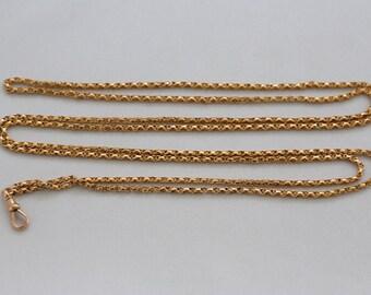 "Superb  54"" 9 ct Gold Guard Chain  c 1910"
