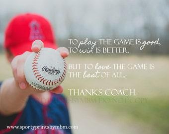 8x10 - Baseball Coach Print