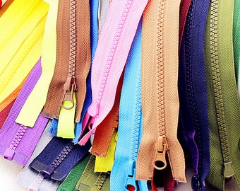 27 inches Molded Plastic Zippers Colorful Separating Zippers For Cloth Jacket Supplies Z09(4pcs)