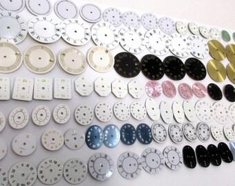 Watch Dials, BRAND NEW, Steampunk Supplies, Watch Faces - Mix, Watch Parts, Lot of 100 Steampunk Supply