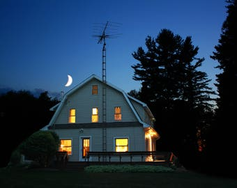 Farm House at Night