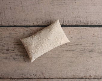 Ready to ship posing pillow....lace pillow...cream pillow...prop pillow