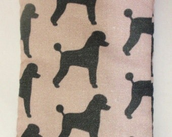 POODLES all over glasses cases