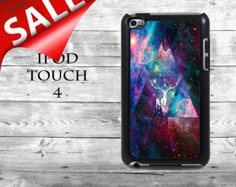 Hipster triangles Universe Space Nebula - SALE iPod Touch 4G case - white deer Cosmos phone iPod Touch case,  iPod cover
