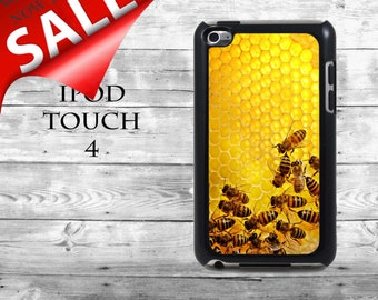 Bee cells Honey bees - SALE iPod Touch 4G case - sweet tasty golden bee phone iPod Touch case,  iPod cover