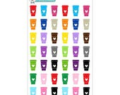 Colorful Mickey Coffee Cups Stickers - Disney Planner Stickers