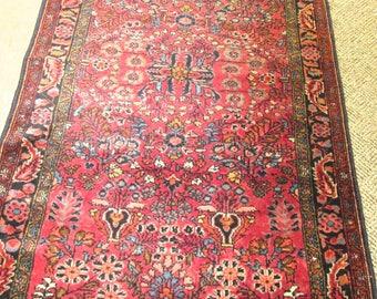 Antique Persian Lilihan Rug.