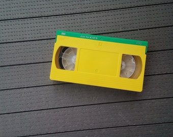 Vintage VHS SKC Video Cassette, Video Tape, Yellow Video Cassette, Video Cassette Just for Kid's