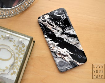 1436 // Black Brown and White Marble Texture Phone Case iPhone 5 5S 6 6S, Samsung Galaxy S5, Samsung Galaxy S6, Samsung Galaxy S7 Edge Plus