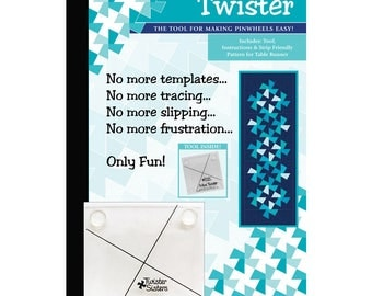 Mini Twister Tool -- #MINITW25 -- by Twisted Sister -- For Making Pinwheels - Includes Tool, Instructions,  and Pattern for Table Runner