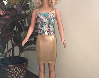 Golden mystique for my size Barbie