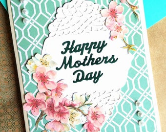 Happy Mothers Day with Cherry Blossoms Card