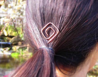 Geometric hairpin - copper wire