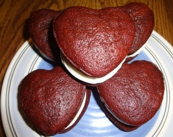 Homemade Cream Cheese Filled Red Velvet Whoopie Pies (15 Cookies)