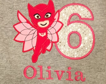 Owlette 6th Birthday Shirt