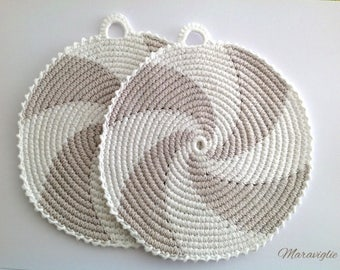 Crochet Potholders, Crocheted Potholders, Pot Holders, Handmade Potholders, Kitchen Decor