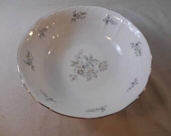 "Europa fine porcelain serving bowl made in Czechoslavakia ""Wildflower"" serving bowl"