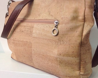 High quality natural cork handbag with 2 removable straps - Eco Friendly