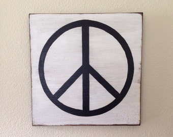 Wooden Peace Sign Wall Art, hippie  style, rustic, peace decor