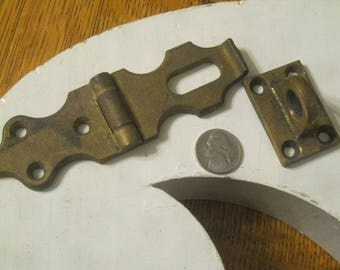 Padlock Latch , Solid Brass Locking Latch ,Antique Padlock Hardware, Antique Locking hardware ,Sargent Lock