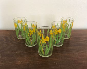 Swanky Swig Daffodil Glasses - Set of 5