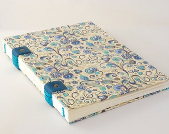 Guestbook, Coptic binding, 20cmX20cm, 72 pages, cover pages, corners of protection, reserved
