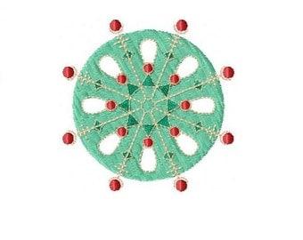 Festive Snowflake 1 Machine Embroidery Design