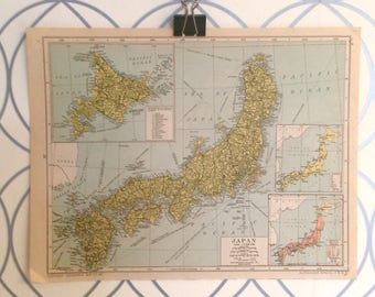 Antique Map of Japan Atlas Published by Geographia Map Co. Inc. 1930 Alexander Gross FRGS (1879-1958)