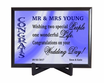 Custom Wedding Couple Gift,Mr and Mrs Gifts,Gift for the Couple on their Wedding, Personalized Gift to both Bride and Groom,New Weds,PHW002