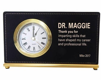 Gift to my Mentor, Appreciation Custom Gift to Supervisor, Gift to a Chief Advisor , Thank you Custom Gift to my Director, Desk Clock, LB009