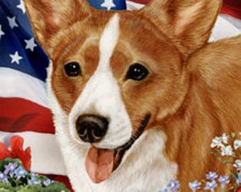 Corgi House Flag