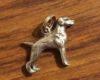 Sterling Silver Weimaraner dog charm by H  H silversmiths