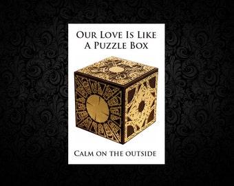 Hellraiser Puzzle Box Valentine Card
