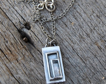 Sterling Silver Rustic Necklace, Silversmith Jewelry, Rustic Necklace, Blackened Silver, Sterling Silver Necklace