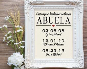 Abuela Mothers Day Gift, Gift for Spanish Mom, Spanish Mom Gift, Abuela Gift, Gift for Abuela, Regalo para Abuela, Mom Gift, Gift Mom