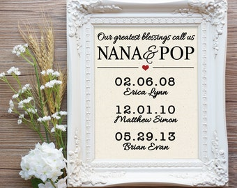 Nana and Pop Gift, Gift for Nana and Pop, Pops and Nana Gift, Poppy Gift, Mothers Day gift, Mom Gift, Gift for Mom, Mom gift mom