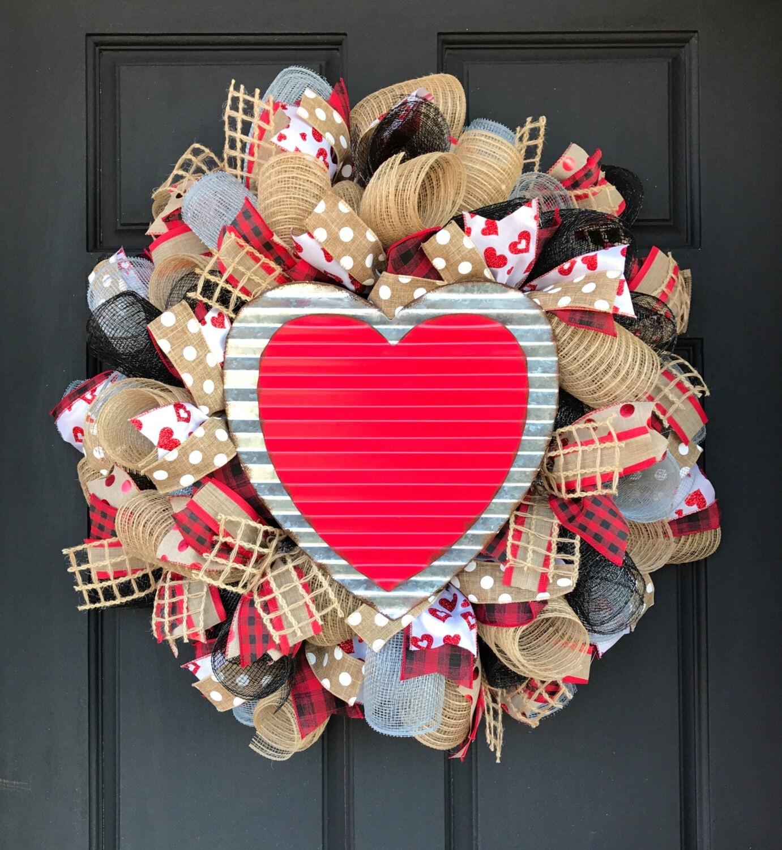 Valentine Wreath Valentine's Day Wreath Valentine