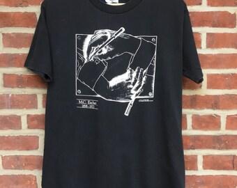 Vintage M.C. escher shirt 90s 1990 art mc escher