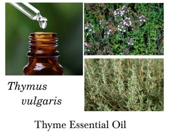 Thyme Essential Oil, Red Thyme Essential Oil, 100% Pure Authentic Thyme EO