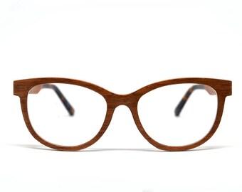 Walnut Wood Cat Eye Glasses Wooden Glasses Wood Eyeglasses Unique Glasses Reading Glasses Holzbrille Natural Glasses Hypoallergenic