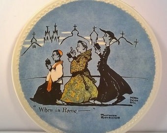"Norman Rockwell's Decorative Wall Plate titled ""When in Rome"""