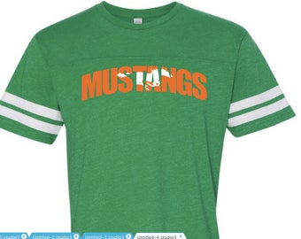School spirit tee ~ team tshirt ~ Mustangs tee