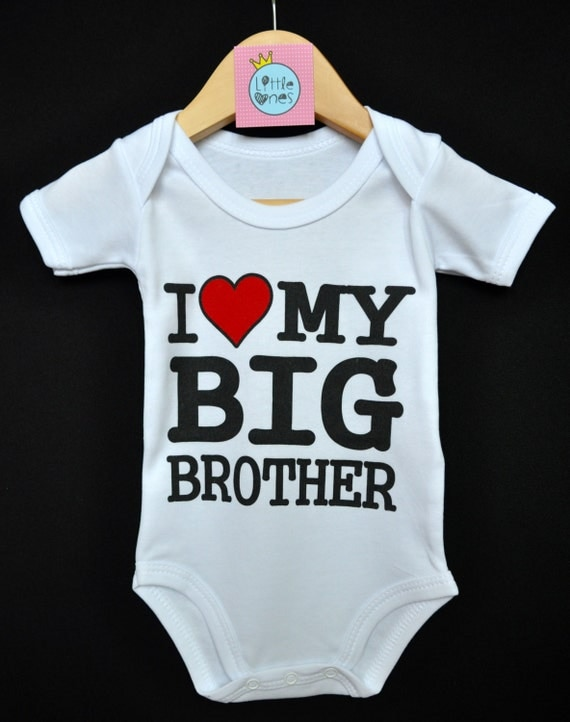 Baby Gifts For Big Brother : I love my big brother baby onesie bodysuit gift from