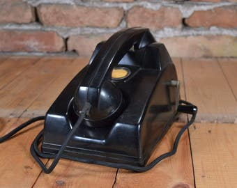 Crank phone - BUDAVOX phone - Vintage phone - Hungary telephone - Retro telephone - Bakelite phone - Working telephone - Vintage Desk phone