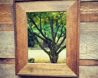 Beautiful Reclaimed Wood Mirror Made from Century Old Salvaged Barn timbers Here in the Pacific Northwest!