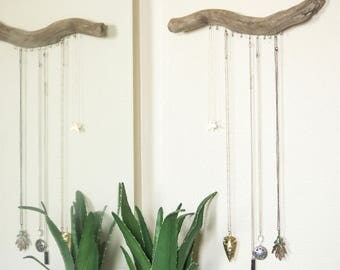 Wood Necklace Jewelry Hanger for the Wall