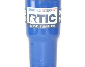 Custom 30oz RTIC Blue Tumbler - Blue tumbler