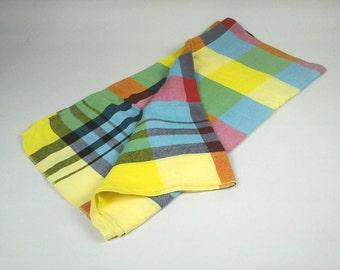 Rainbow Tablecloth Etsy