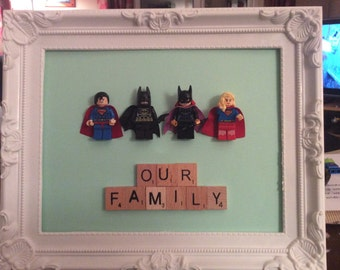 Superhero Family Frame